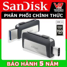 USB OTG Sandisk Ultra Dual Type-C 3.1 32GB 64GB tốc độ cao 150MB/s hãng SPC phân phối – vpmax