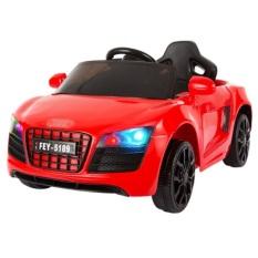 Ô tô xe điện AUDI FEY 5189 đồ chơi vận động, cho bé tự lái và remote (Hồng-Đỏ)