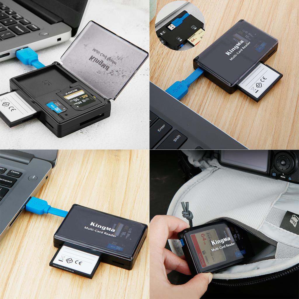 Đầu đọc thẻ CF/SD/MicroSD 3.0 kiêm hộp đựng