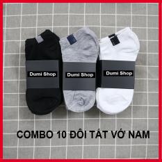 Combo 10 đôi vớ nam cổ ngắn dày đẹp tùy chọn màu chống hôi chân vải cotton