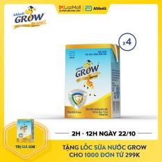 [GIẢM 20K+TẶNG LỐC NƯỚC 80K ĐƠN 299K] Lốc 4 hộp sữa Abbott Grow 110ml