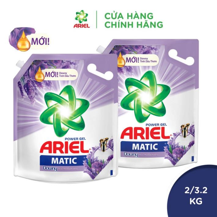[10-14.10 Quà khi đủ điều kiện] Combo 2 nước giặt Ariel Downy nước hoa oải hương túi 3.2kg