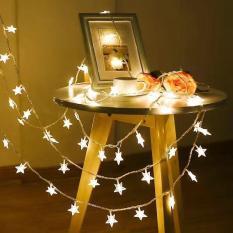 Đèn nhấp nháy hình ngôi sao nhỏ. Đèn led chớp trang trí Noel. Dây đèn led trang trí hình ngôi sao dài 5 mét siêu đẹp – Kmart