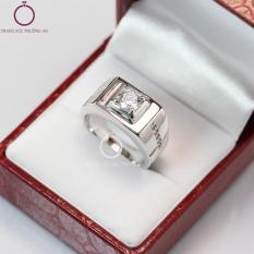 Nhẫn bạc nam đẹp đính đá sang trọng NNA0039 – Trang Sức Trường An