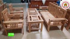 Bộ bàn ghế sofa đối kép gỗ sồi nga