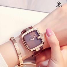 Đồng hồ nữ dây da GUOU GU8190 thời trang trẻ trung, phong cách cá tính