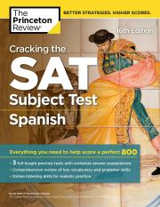 Cracking the SAT Subject Test in Spanish, 16th Edition