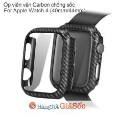 Ốp Viền Carbon Apple Watch Series 4 (Size 40mm   44mm, Hangtotgiasoc)