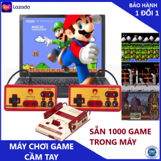 Máy chơi game cầm tay Máy chơi game 4 nút Máy Chơi game 9x kèm 1000 game có sẵn trong máy và 2 tay game, bảo hành 3 năm 1 đổi 1 trong 7 ngày