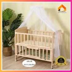 [TẶNG MÙNG CHỐNG MUỖI] Cũi trẻ em ,Cũi hai tầng siêu rộng cho bé vui chơi, Cũi trẻ em giá rẻ, Cũi trẻ em bằng gỗ(D105-R60-C84) – H056