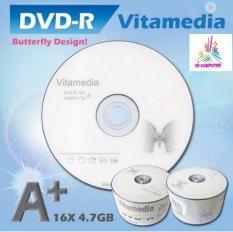 Đĩa dvd trắng ,Đĩa trắng DVD Vitamedia 1 lốc 50 cái 4.7G hộp box