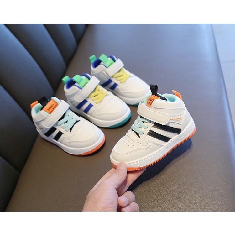 Giày Thể Thao Hai Sọc Cổ Lửng Cho Bé Trai/Gái từ 1-6 tuổi -giày cho bé mẫu mớt hót nhất...
