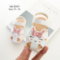 Sandal Tập Đi Cho Bé Gái 0 – 18 Tháng Hình Thỏ Ngộ Nghĩnh XD59