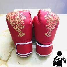 Găng bao tay đấm bốc, boxing cho người lớn – hoa văn con hổ