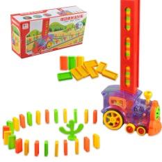 Xe Lửa Xếp Hình Domino , Tàu Hỏa xếp hình Domino, Có đèn, Âm Thanh, Chỉnh hướng, Bé vừa chơi vừa học.