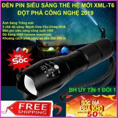 Đèn pin siêu sáng, Đèn pin XML TS6, Chống nước cực tốt, chiếu xa lên tới 400m , Tặng kèm pin , sạc và hộp đựng