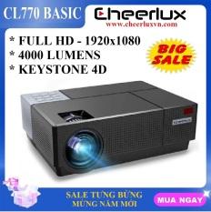 Máy chiếu FULL HD Cheerlux CL770 projector 1920×1080 đèn Led 175W 4000 Lumens sáng rỏ chức năng Z