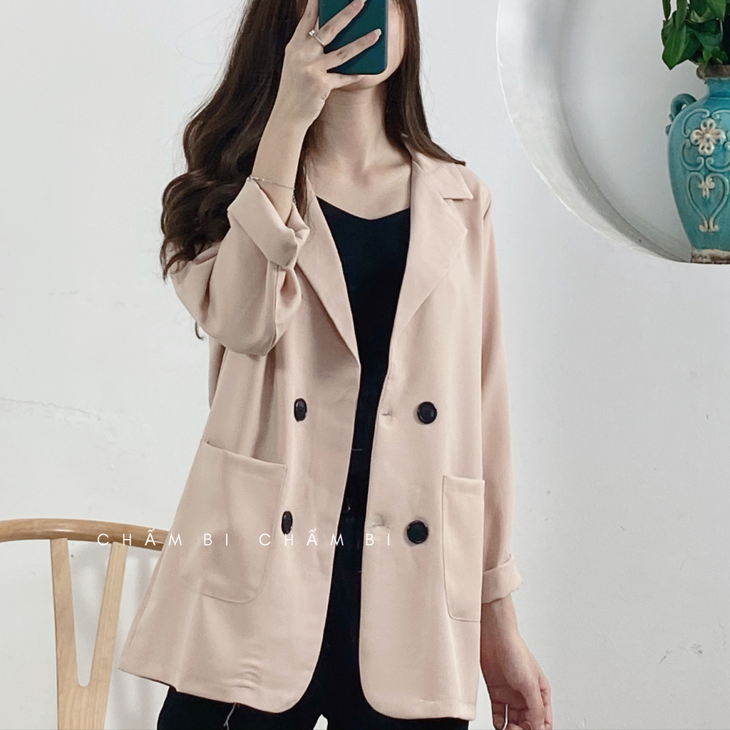 Áo Blazer Vest Nữ Khoác Ngoài Dài Tay Nhiều Màu Kiểu Dáng Trẻ Trung – A.016
