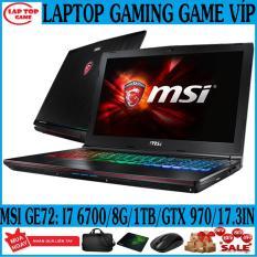 QUÁI VẬT GAME VÍP MSI GE72 6QF Core i7-6700HQ/ RAM 8G/ HDD 1TB / GTX 970 3G/ Màn 17.3 inch Full HD 1080 tấm nền IPS/ Phím 7 Màu RGB