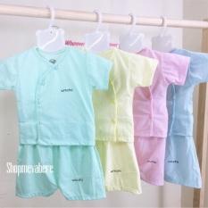 Bộ cộc tay khuy lệch cho bé sơ sinh 0-9kg hàng đẹp sản phẩm tốt với chất lượng độ bền cao và được cam kết sản phẩm y như hình