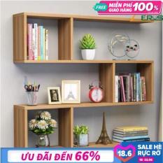 [Flash Sale] Kệ sách, kệ trang trí treo tường gỗ 3 ngăn dài 80cm x sâu 15cm x cao 75cm