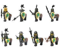 LEGO MINIFIGURES – SET 8 LÍNH NHÂN MÃ RỒNG XANH LOJO AX8802