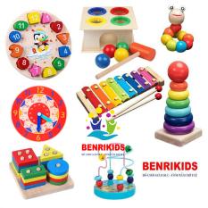 Đồ Chơi Trẻ Em Combo 8 Món Đồ Chơi Gỗ BR08X Cho Bé Trai Và Bé Gái Phát Triển Các Kĩ Năng Toàn Diện, Đồ Chơi Theo Phương Pháp Montessori