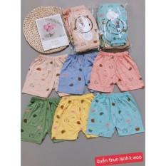 Quần đùi vải thun lạnh mát mẻ cho bé trai và bé gái co giãn 4 chiều, từ 5-15kg-Q11