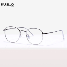 Gọng kính cận FARELLO chất liệu kim loại phụ kiện thời trang nam nữ 28107 nhiều màu
