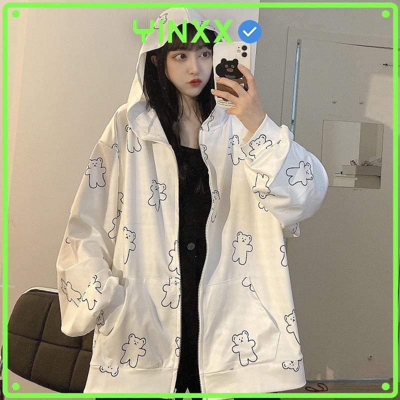 [HCM]Áo khoác thời trang nam nữ form rộng hình chú gấu phong cách Unisex AK00