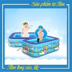 Bể Bơi Phao Kích Thước 1M3 3 Tầng Cho Bé, Hàng Loại 1 Có Đáy Chống Trượt, An Toàn Khi Sử Dụng