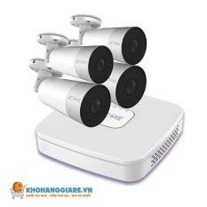Combo 4 camera IMOU có mic với đầu ghi hình tiếng Việt S3-04P dây POE