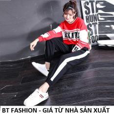 Quần Dài Nữ Thun Phom Rộng Jogger Thể Thao Thời Trang Hàn Quốc – BT Fashion (TT3B-MSL BO)