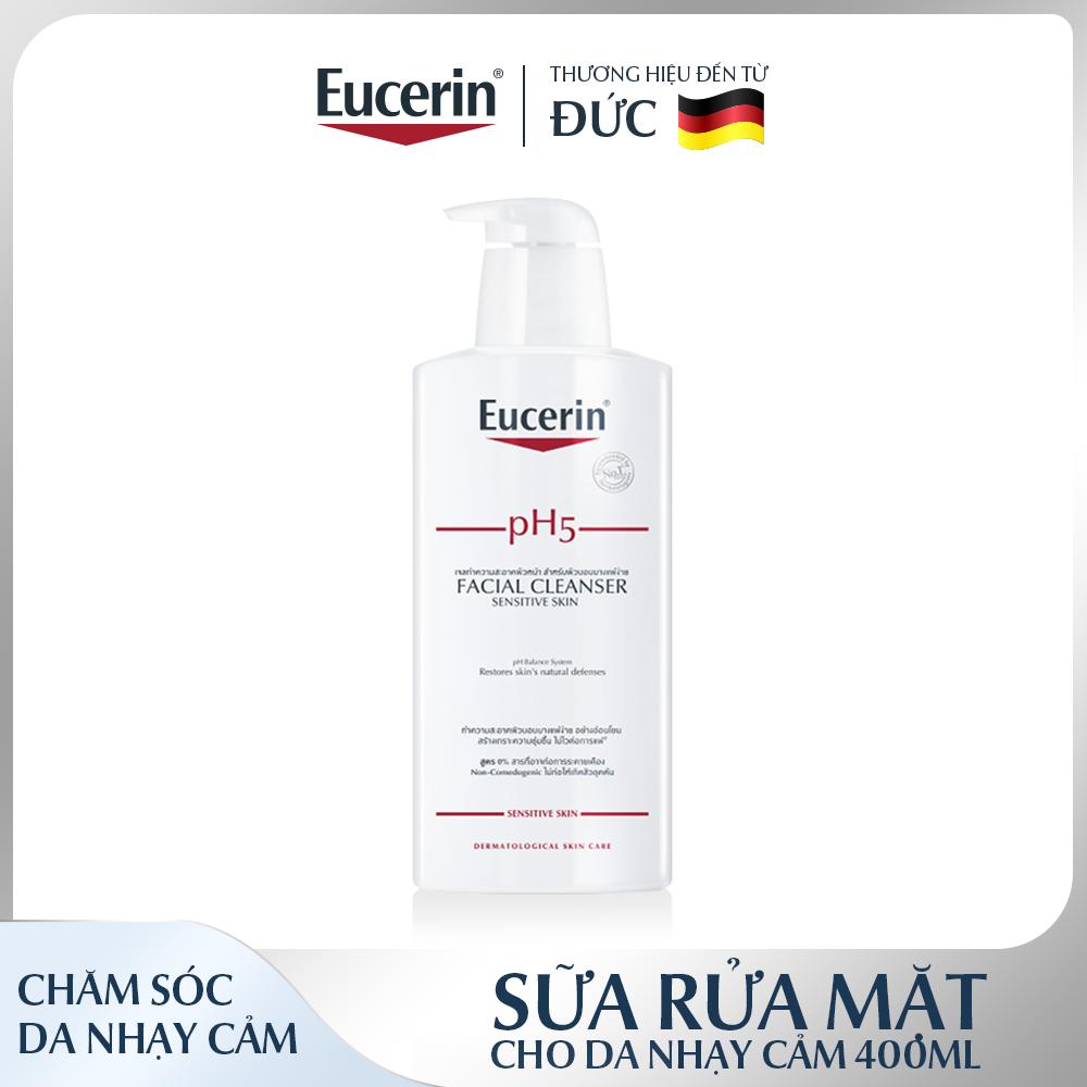 [MỚI] Sữa Rửa Mặt Eucerin Facial Cleanser PH5 Sensitive Skin Cho Da Nhạy Cảm 400ml