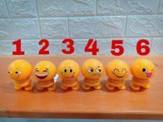 Bộ 6 con Thú nhún emoji lò xo, thú nhún lò xo, con lắc lò xo, đồ trang trí oto, siêu vui