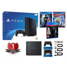COMBO PLAYSTATION 4 PS4 PRO 1TB SONY VN KÈM 2 TAY + 3 GAME (BH 01 NĂM)
