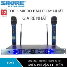 [ XẢ KHO ] TOP 3 Micro Không Dây BÁN CHẠY NHÂT , Bộ micro karaoke gia đình giá rẻ – Mua Ngay BỘ 2 MICRO KARAOKE KHÔNG DÂY UHF SHURE BLXC9 ( MẪU MỚI ) Hát Cực Nhạy, Chống Hú Rít , Không gây vỡ tiếng Âm thanh trung thực sống động