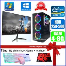 Bộ máy tính PC Game LED CPU Dual Core E7/8xxx / i3-2100 / Ram 4GB-8GB / HDD 250GB – SSD 120GB / VGA 1GB – 2GB chơi PUBG mobile, PUBG lite, LOL, CF đột kích, Fifa, Cs Go, AOE … + Màn hình + [QÙA TẶNG: Bộ phím chuột game, tai nghe] – LDV