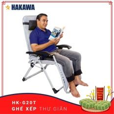 Ghế xếp thư giãn chính hãng HAKAWA – HK-G20T – Trọng Tải 300kg – Thay miễn phí phụ kiện nệm và lưới trong 5 NĂM – Dành cho người lớn tuổi