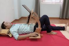 Bàn học bàn để laptop gỗ gấp gọn thông minh Abatsu