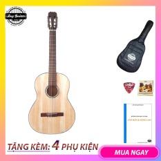 Đàn guitar classic giá rẻ DVE70C size lớn Duy Guitar Store chuyên đàn guitar giá rẻ cho sinh viên cho âm thanh cổ điển ấm áp – tặng giáo trình Bao da phụ kiện ghitar