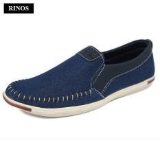 Giày lười vải khâu siêu bền thời trang nam RINOS RN4520