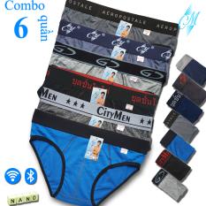 Combo 6 Quần Lót Nam cao cấp | quần xì nam | quần xịp, sịp nam | nhiều lưng | vải cotton 2 chiều | hiệu CITYMEN | lưng lớn | cạp to | kiểu brief | tam giác truyền thống | đồ lót nam