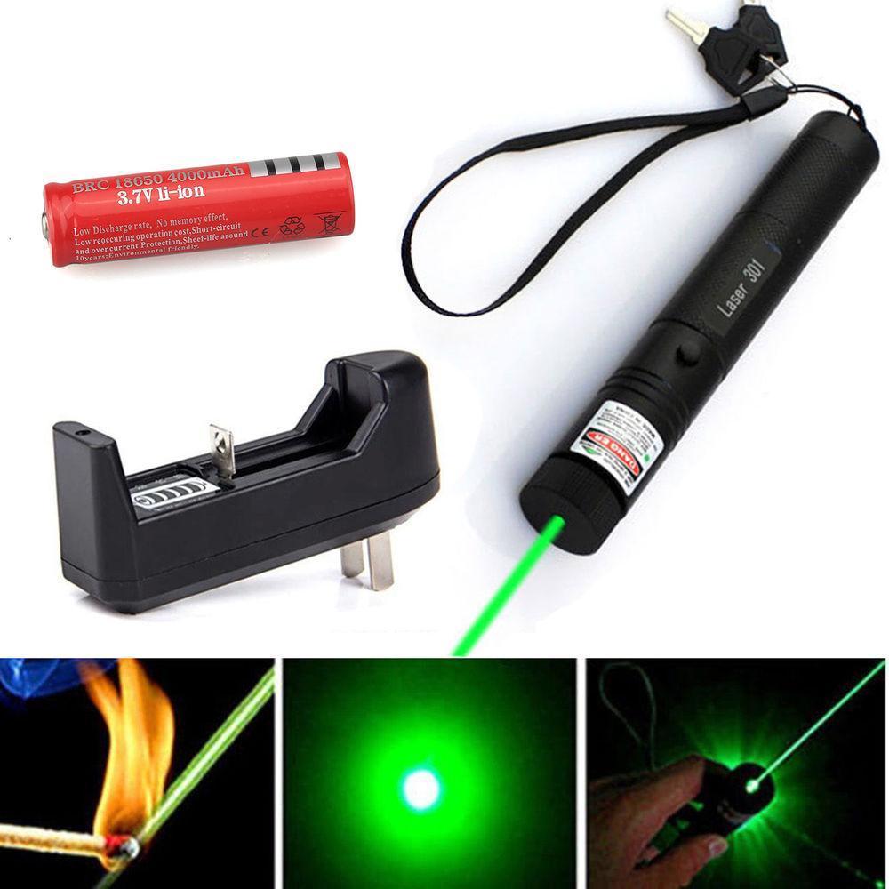 Đèn pin Laze 303 chiếu xa nhiều hình cực đẹp - Trọn bộ gồm đèn laser, bộ sạc, pin Li-ion,...