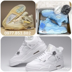 TỔNG HỢP 3 mẫu JORDAN 4 hot nhất thị trường năm 2021, Jordan 4 xanh dương, jordan 4 cream white , jordan 4 retro thích hợp đi học đi chơi làm giày nhóm
