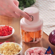 Máy xay mini cầm tay xay thịt gia vị tỏi ớt rau củ kèm dây sạc dung tích 250ml