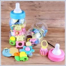 Bộ đồ chơi xúc xắc cho bé, Bộ đồ chơi lục lạc cho bé, bồ đồ chơi cho bé trong bình sữa, Bồ đồ chơi lục lạc trong bình sữa cho bé, Đồ chơi cho bé 1-2 tuổi