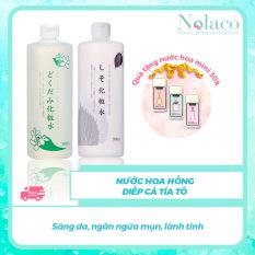 Nước hoa hồng diếp cá tía tô + Tặng kèm nước hoa khô mini 30k + Sáng da, ngăn ngừa mụn, lành tính + Nước hoa hồng cho da dầu, Nhật Bản + NOLACO