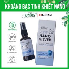 Khoáng bạc tinh khiết nano 10ppm Kentary chai 50ml, chuyên gia diệt vi khuẩn cho da và họng, giúp cơ thể khỏe mạnh, đẹp da, an toàn cho trẻ em và mẹ bầu