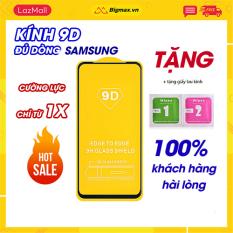 Kính cường lực Samsung full màn 9d cao cấp cho A7 2018/A8 2018/A9 Pro/A71/A51/A20s/A30s/A20s, vát cạnh 9D ôm sát màn hình máy, hạn chế bong viền, mẻ viền – kinh cuong luc samsung Màu đen